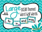 Ocean Themed Word Wall Words