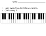 LARGE PRINT Piano Notes- Assessment Slip