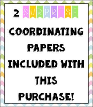 LARGE Pastel Chevron Burlap Digital Papers {Commercial Use Digital Graphics}