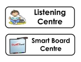 LARGE Playful Learning Centre Signs