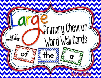 Primary Chevron Word Wall Words