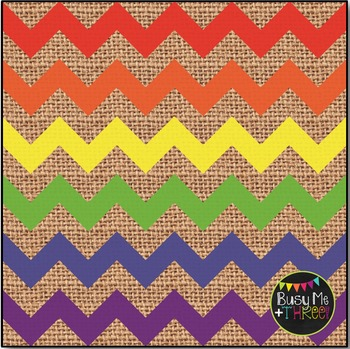 LARGE Rainbow Chevron Burlap Digital Papers {Commercial Use Digital Graphics}