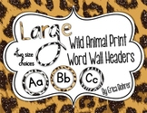 Animal Print Word Wall Headers {Two Size Choices}