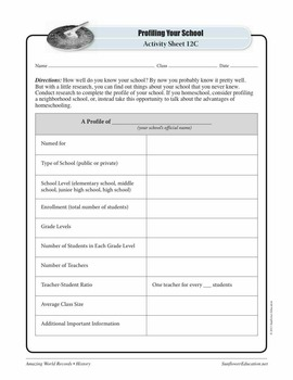 LARGEST SCHOOL: CITY MONTESSORI SCHOOL, INDIA—History Worksheets and Activities