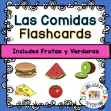 LAS COMIDAS FLASHCARDS AND LABELS- Includes Frutas y Verduras