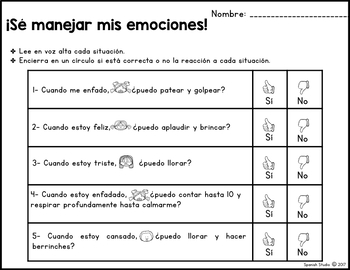 Feelings and Emotions (Spanish)