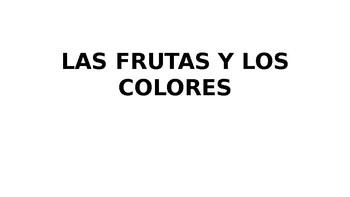 LAS FRUTAS Y LOS COLORES