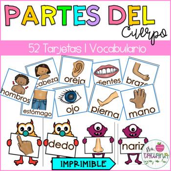 LAS PARTES DEL CUERPO/ SPANISH BODY PARTS FLASHCARDS