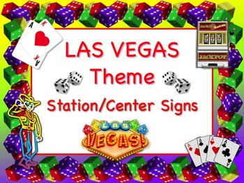 LAS VEGAS Themed Station/Center Signs - Great Classroom Management!
