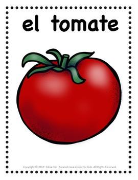 LAS VERDURAS - VEGETABLES IN SPANISH