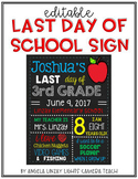 LAST DAY of School Sign - Complements FIRST DAY Sign