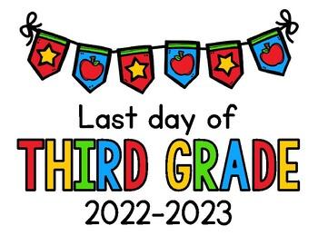 LAST Day of School Signs 2019 - 2020 FREEBIE: Preschool, PreK ...