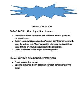 LAT & RST PARCC Writing Recipe