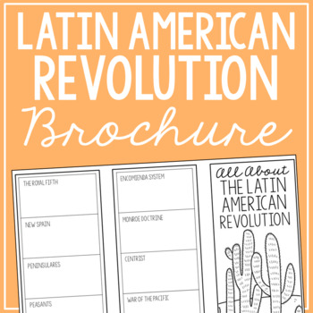 LATIN AMERICAN REVOLUTION Research Brochure Template, World History Project