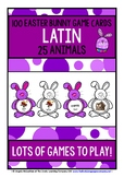 LATIN FOR CHILDREN - ANIMALS - 100 EASTER BUNNY GAME CARDS