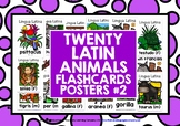 ELEMENTARY LATIN ANIMALS FLASHCARDS POSTERS 2