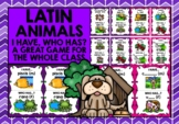 LATIN ANIMALS -I HAVE, WHO HAS? 2 GAMES, 2 CHALLENGES!