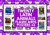 LATIN FOR CHILDREN - 20 ANIMALS POSTERS / FLASHCARDS (3)