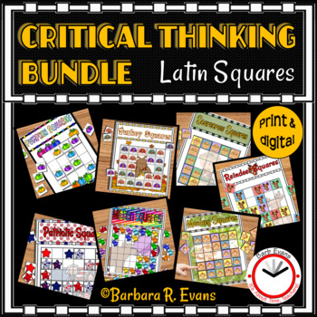 LATIN SQUARES CRITICAL THINKING BUNDLE Differentiated GATE HOTS Math Centers