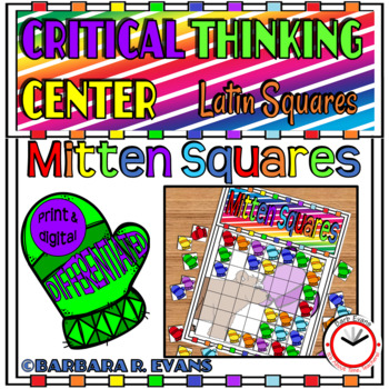 LATIN SQUARES Mitten Squares Critical Thinking GATE Differentiated Enrichment