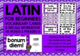 LATIN VOCABULARY CARDS 1