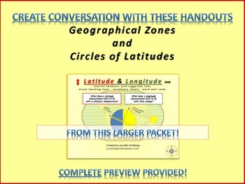 Geographical Zones & Circles Of Latitude (from larger Latitude/Longitude Packet)