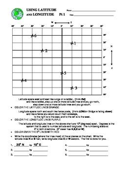 latitude and longitude by arlene manemann teachers pay teachers. Black Bedroom Furniture Sets. Home Design Ideas