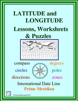 LATITUDE and LONGITUDE by Arlene Manemann | Teachers Pay Teachers