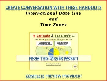 International Date Line & Time Zones (from my larger Latitude/Longitude Packet)