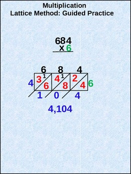 Lattice Method Multiplication: Guided Practice (animated)