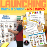 LAUNCHING LITERACY CENTERS/DAILY 5 / LOS 5 DIARIOS - CENTER SIGNS IN SPANISH