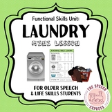 LAUNDRY: Functional Skills Unit for Life Skills Speech and