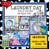 LAUNDRY WASH CLOTHES sing-a-long  BOOK & POSTER PRE-K EARL