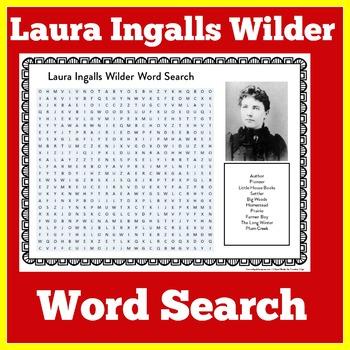 Laura Ingalls Wilder Worksheet | Laura Ingalls Wilder Word Search