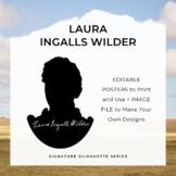 LAURA INGALLS WILDER Signature Silhouette Posters