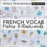 French Vocab Cards (Vocabulaire) for the Whole Year