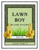 Gary Paulsen LAWN BOY - Novel Study DIGITAL & PRINTABLE