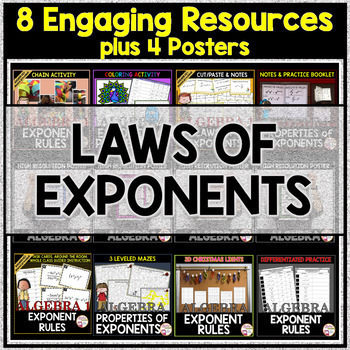 LAWS OF EXPONENTS Bundle