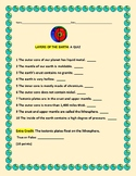 LAYERS OF THE EARTH: A QUIZ, GRADES 4-6