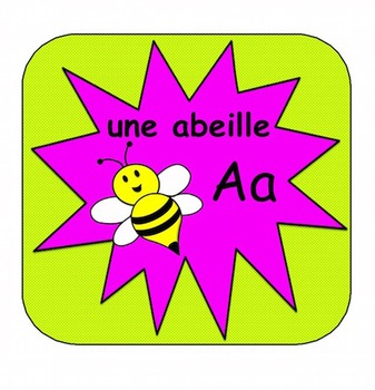 L'Alphabet (Free French Alphabet Cards, 2 sizes)