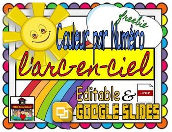 L'Arc En Ciel--To Color in FRENCH-Pour Colorer! FREE!!!