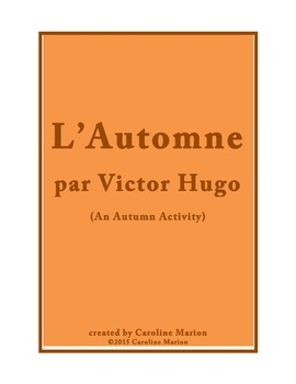 L'Automne par Victor Hugo (An Autumn Activity)