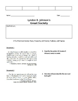 LBJ's Great Society