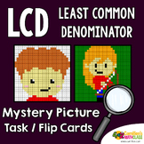 LCD Coloring Pages, Least Common Denominator Color Activity Task Cards