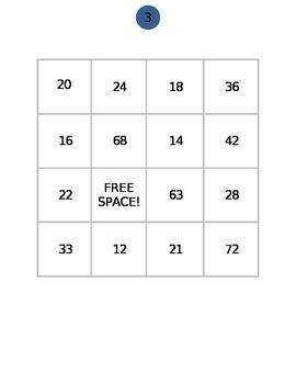 LCM BINGO - Least Common Multiple Bingo