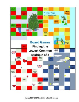 LCM - Finding the Lowest Common Multiple of Two Numbers Board Games