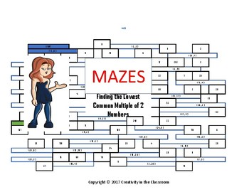 LCM - Finding the Lowest Common Multiple of Two Numbers  - Mazes