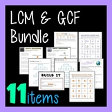 LCM GCF Combo - 11-in-1 Bundle Greatest Common Factor Least Common Multiple