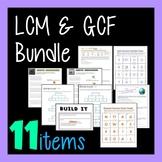LCM GCF Combo - 11-in-1 Bundle Greatest Common Factor Least Common Multiple