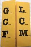 LCM & GCF Foldable